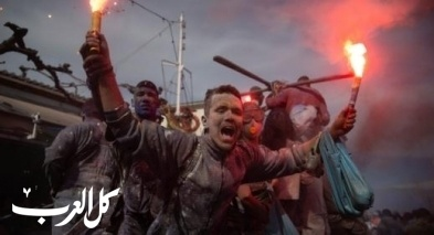 حرب الطحين الملون تشعل شوارع اليونان