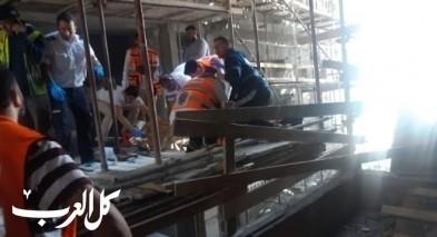 إصابة عامل سقط عن ارتفاع في حيفا
