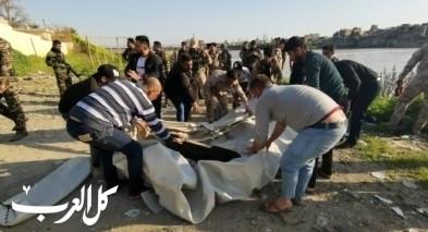 ارتفاع عدد ضحايا غرق العبارة في الموصل الى 94 شخصاً