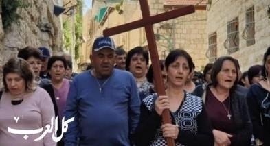 مسيرة درب الصليب تجوب شوارع القدس