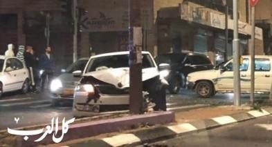 حادث طرق على شارع الناصرة يافة يسفر عن اصابتين طفيفتين