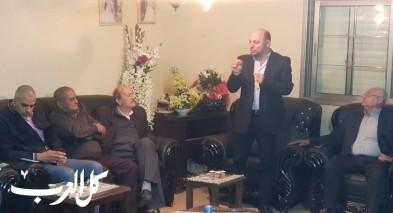 مازن ومسعود غنايم في اجتماع انتخابي عند آل قسوم