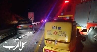 اصابة 7 اشخاص بحادث طرق قرب طبريا