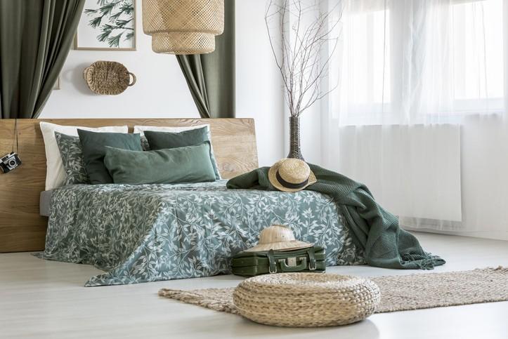 أفكار لديكور غرف نوم باللون الأخضر
