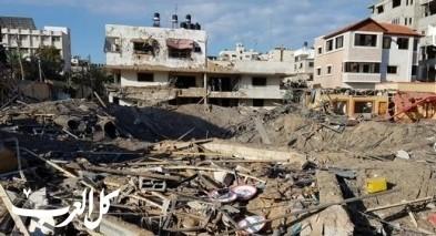 غزة: 30 وحدة سكنية دمرت كليا وخسائر هائلة
