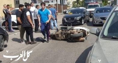 كابول: اصابة سائق دراجة نارية بجراح بحادث