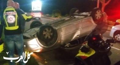 اصابة سائقة بعد انقلاب سيارة في نتسيرت عيليت