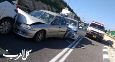 اصابة 3 اشخاص بجراح متفاوتة بحادث طرق قرب عبلين