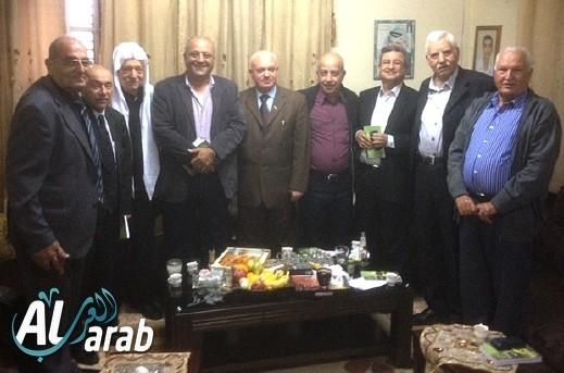 لجنة الوفاق تلتقي عودة وعباس وشحادة
