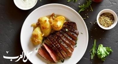ستيك لحم بصلصة الأوريغانو..صحتين وهنا