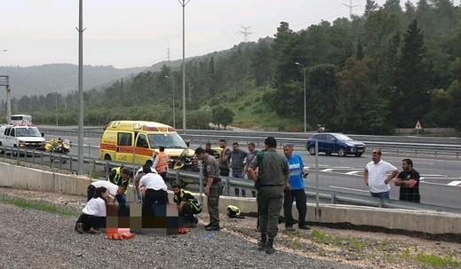 إصابة خطيرة جرّاء حادث طرق قرب يوكنعام