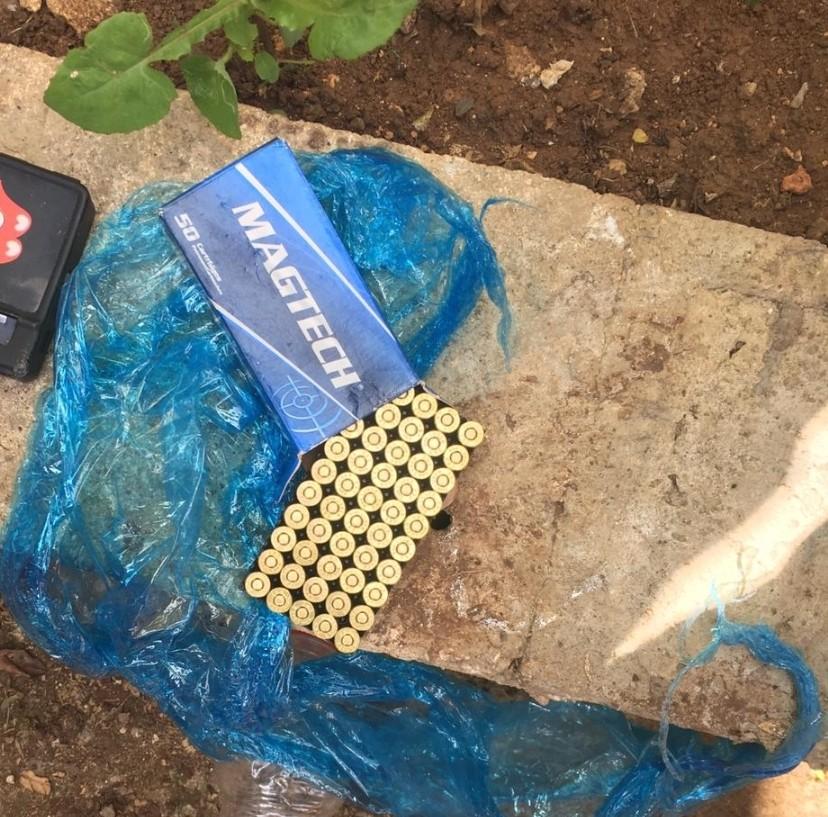 سالم: العثور على قطع اسلحة وذخيرة والتحقيق مع شابين