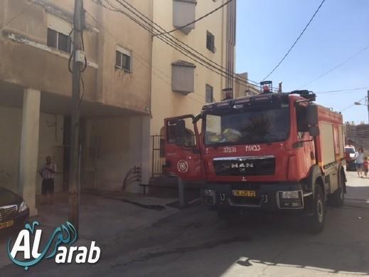 اندلاع حريق داخل شاحنة في دبورية