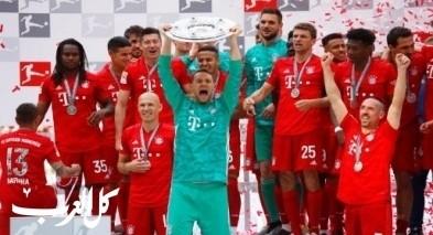 بايرن ميونخ يتوج بالدوري الألماني بفوز كبير