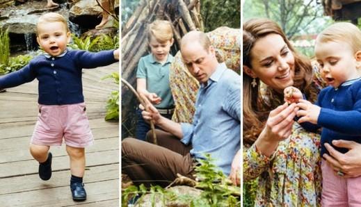 العائلة المالكة البريطانية تتنزه بحديقة من تصميم كيت
