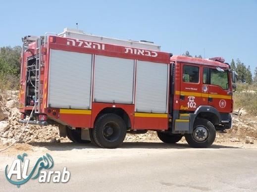 اندلاع حريق داخل مكتب محاماة في يركا