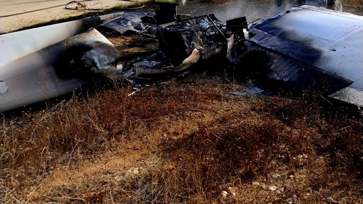 اندلاع حريق في طائرة بالجنوب دون وقوع إصابات