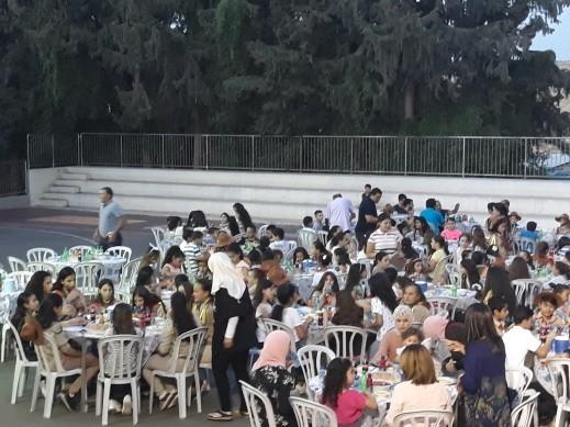 افطار رمضاني في امسية رائعة في مدرسة الطيبة الزعبية