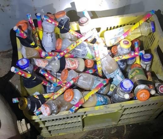 كفرمندا: ضبط 110 زجاجة حارقة واعتقال مشتبه