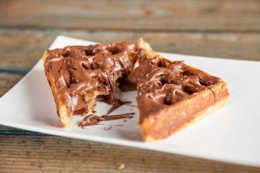 طريقة تحضير وافل بشوكولاتة النوتيلا