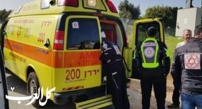 إصابة 3 أشخاص بحادث طرق قرب كفار بلوم