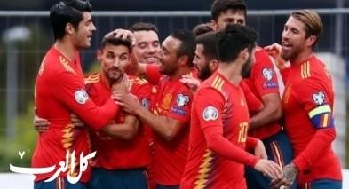 إسبانيا تتغلب على جزر الفارو برباعية