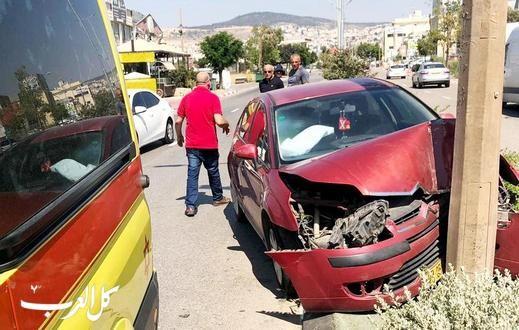 طمرة: إصابة متوسطة لسائق جراء حادث طرق ذاتي