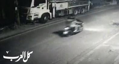 فيديو- توثيق اطلاق النار على محل تجاري في باقة