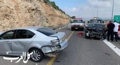 حادث طرق بالقرب من قرية ضميدة يسفر عن إصابات متفاوتة