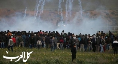 غزة: 34 إصابة بمسيرات العودة وكسر الحصار