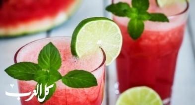 عصير البطيخ بالنعنع.. منعش ولذيذ