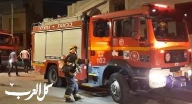 كفرياسف: اندلاع النيران بخزانة في منزل