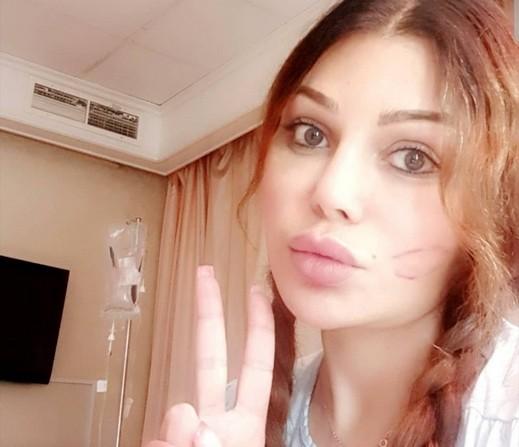 هيفاء وهبي تطل على جمهورها من المستشفى