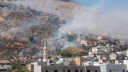 اندلاع حريق هائل في الجبل الشمالي لمجد الكروم
