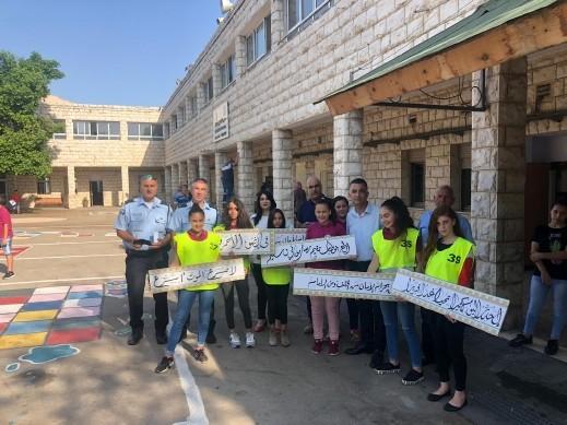 مدرسة السلام بسخنين بمشروع للحد من حوادث الطرق