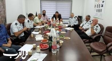 الميجر جنرال فارس يجتمع برؤساء مجالس قرى درزية