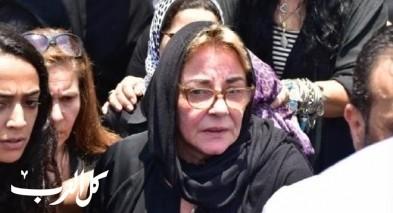 الفنانون في جنازة الفنان الراحل عزت أبو عوف