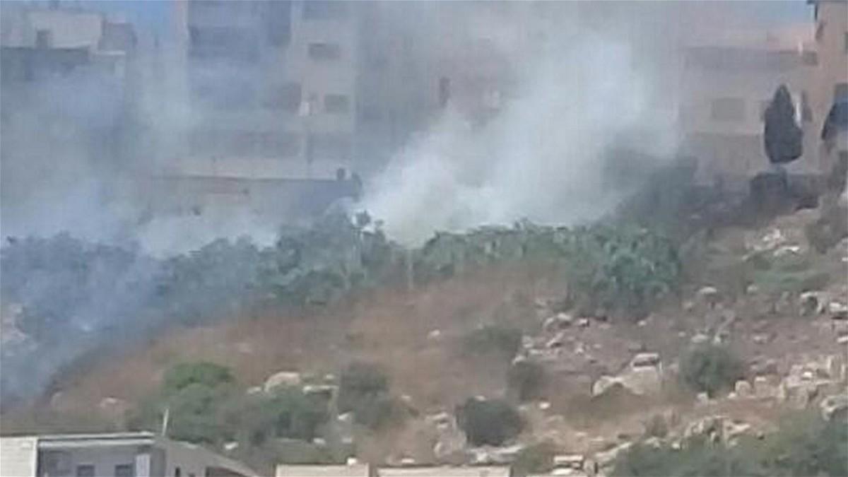 أم الفحم: إندلاع حريق كبير بحي الشيكون