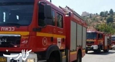 اخماد حريق اندلع في ثكنة عسكرية قرب عطروت القدس