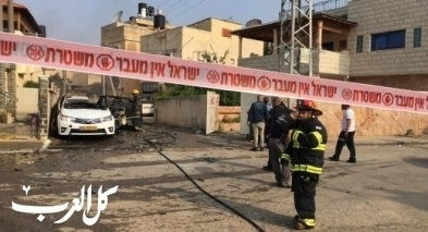 اعتقال مشتبه من نحف بإضرام النيران بسيارة