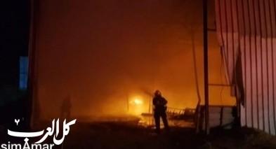 اندلاع حريق في مخزن للمحاصيل الزراعية في أبو تلول