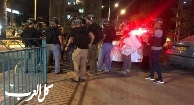 الرملة: متظاهرة احتجاجية على مصرع سائق دراجة نارية