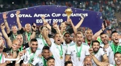 فيديو: لاعبو الجزائر يهتفون لفلسطين