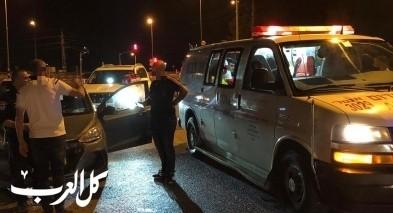 اصابة 3 اشخاص بحادث طرق على مفرق كابول