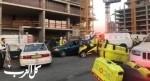 إصابة خطيرة لعامل في ورشة بناء في المركز