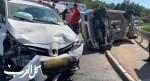 إصابتان جراء حادث طرق مروع عند مفترق شعب