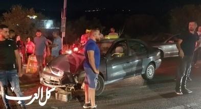 اصابة 4 اشخاص بحادث طرق بين عرابة وديرحنا