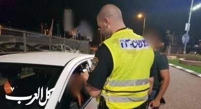 ضبط سائقين من مجد الكروم وعيلوط قادا تحت تأثير الكحول