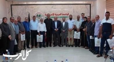 زيارة وفد من اللجنة القطرية بالداخل للجامعة العربية