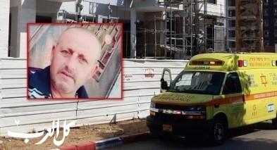 مصرع العامل محمد اغريب بورشة بناء في هود هشارون
